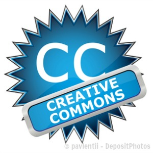 creative commons icon blue