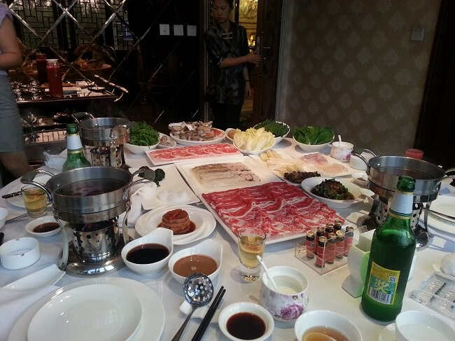 Chinese Hot Pot dish at an expensive restaurant in Shenyang