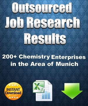 Outsourced Job research results - 200+ chemistry enterprises in the area of Munich