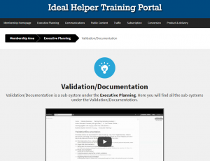 Ideal Helper's internal training - Validation department