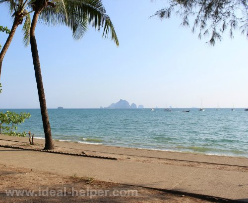 a view from a beach in Thailand