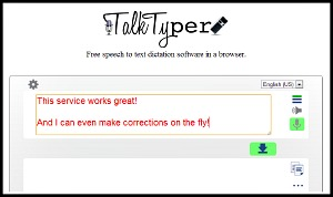 TalkTyper is a free Transcription Website
