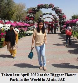 Flower park Al Ain Dubai