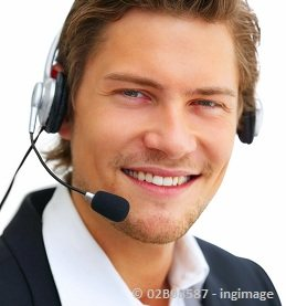 Virtual assistant guy with a headset