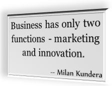 Milan Kundra's famous quotation for marketing