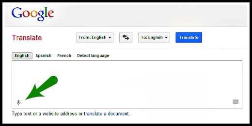 Use Google Translate for voice transcription