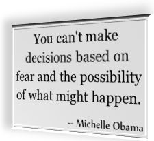 Michelle Obama's famous quotation
