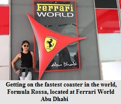 Maria at Ferrari World Abu Dhabi