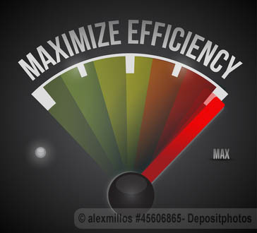 Maximize efficiency meter