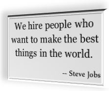 Steve Jobs' famous quotation