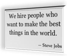 Steve Jobs' famous quotation