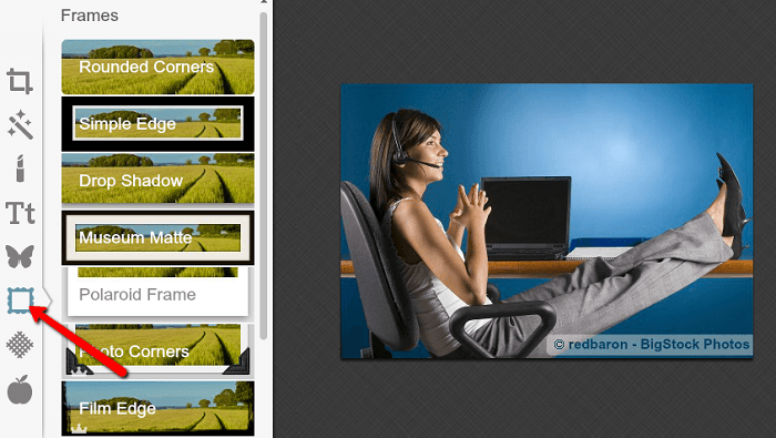 Add beautiful borders and frames with Picmonkey