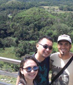 Francis his Filipino VA Jomvie and his girlfriend