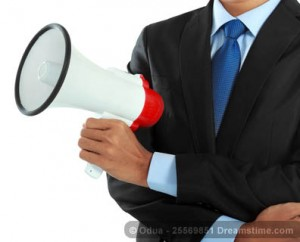 Virtual assistant with a megaphone