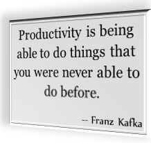 Franz Kafka's famous saying about productivity