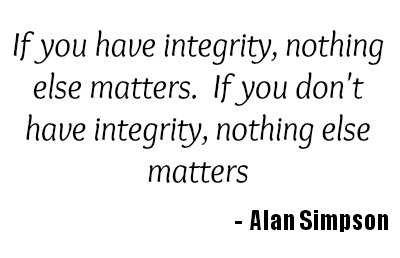 A quote about integrity by Alan Simpson