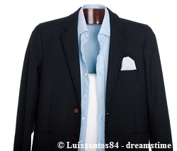 Ironed suit and shirt ready to wear