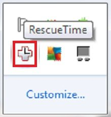 RescueTime Running in the Background