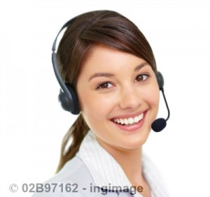 virtual assistant with a headset