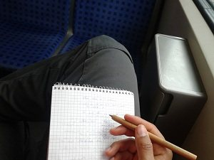 Utilize your time even if you are stuck in the train