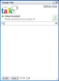 a screenshot of Google chat desktop application