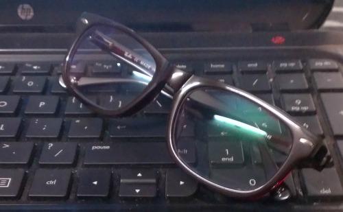 Anti-glare eye glasses