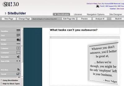 From my VA's work diary: Setting up a quotation template to one of my webpages