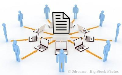 The Dropbox is not the best tool for multiple, simultaneous cooperation on the same file
