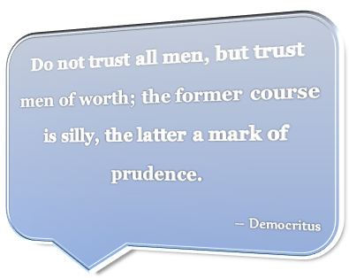 Famous Saying by Democritus
